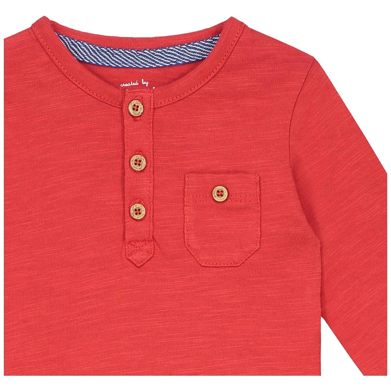 Pr/énatal Baby-Jungen Langarmshirt Rot