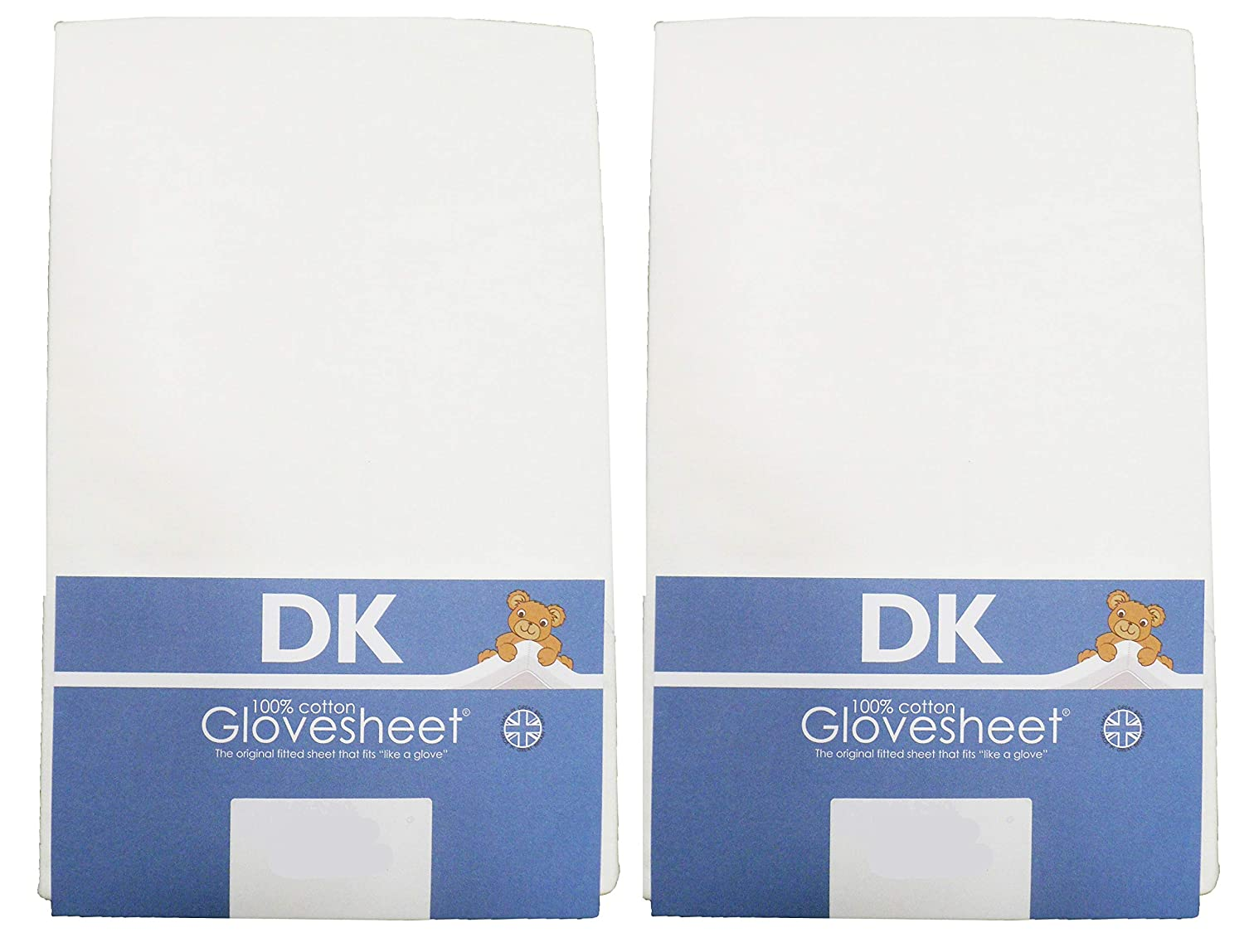 TWO PACKS 100/% Combed Jersey Cotton Two Fitted Swinging Crib Sheets To Fit Mattress Size 84 x 36 cm Colour WHITE DK Glovesheets