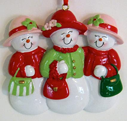 rudolph and me snow friends 3 women christmas ornament - Rudolph And Friends Christmas Decorations
