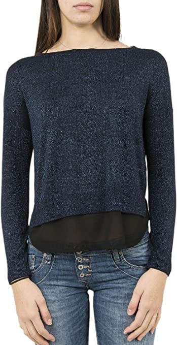 TALLA M. Only Onlshen L/S Mix Pullover Knt suéter para Mujer