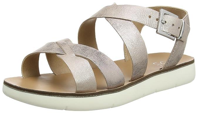 Womens Extra Wide Brown Open-Toe Sandals EVANS PdRhmHfK