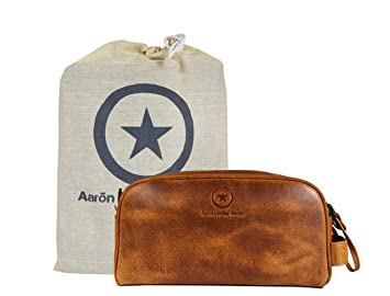 e43f1a30bb Amazon.com   Leather Toiletry Bag for Men