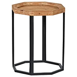 "Stone & Beam Arie Octagonal End Table, 17.3"" W, Natural"