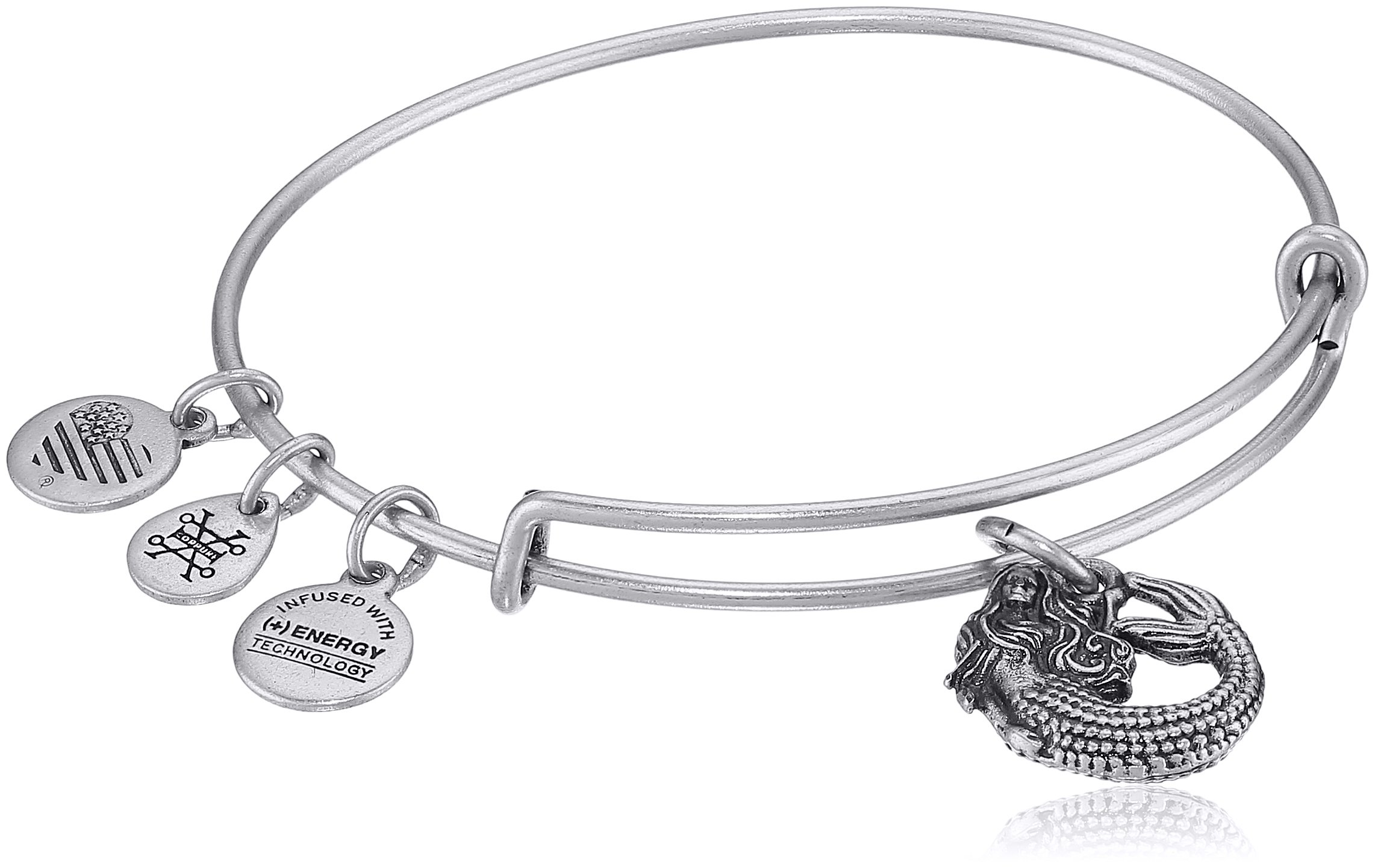 Alex and Ani Mermaid II Rafaelian Silver Bangle Bracelet