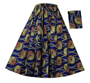9cf0db3d76f Decoraapparel African Wax Skirts Short 29 quot  Dashiki Maxi Ankara High  Waist Wide Flair Skirts One