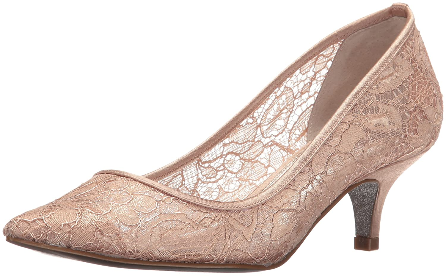 Rose Poudré Adrianna Papell Lois Toile Talons