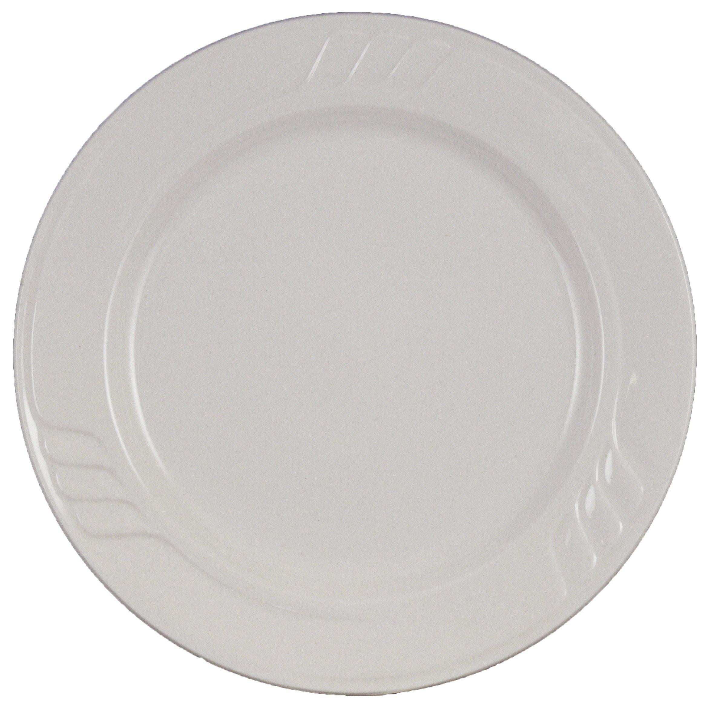 Vertex China SAU-22 Sausalito Plate, 8'', Bone White (Pack of 24)