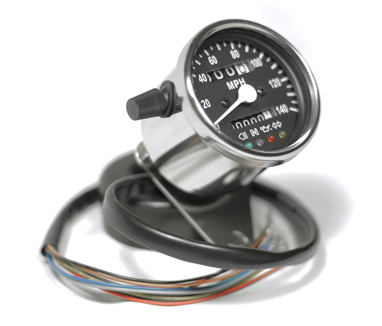 Mini Speedometer Wiring Diagram Guide And Troubleshooting Of Amazon Com Universal 2 5 Chrome Motorcycle W Rh Chevy S10 Diagrams Dakota Digital