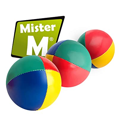 "Mister M ✓ 3 Juggling Balls ✓ Plus an Online Video ✓ ""The Ultimate Juggling Set (Plain Package, 3): Toys & Games"