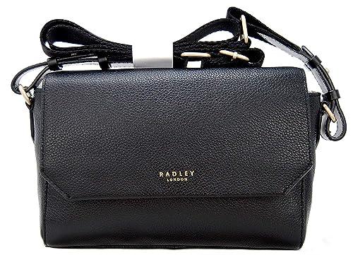 740f2c556d4 Radley Flapover Across Body Bag  Chelsea  Black Leather RRP 159.00 ...