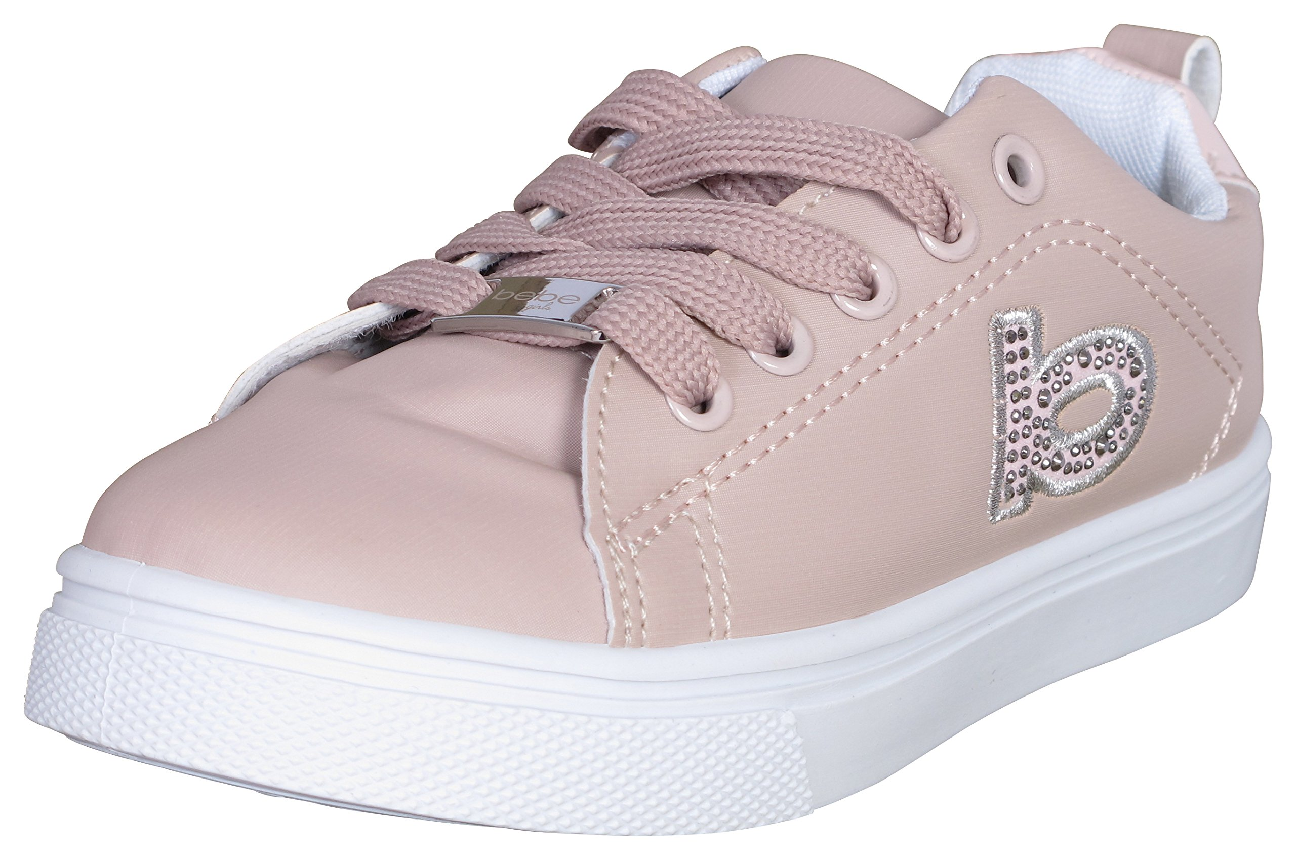 Bebe Girls Classic Low Top Fashion Sneakers, 11/12, Blush''