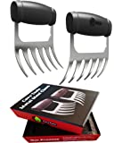 Meat Claws - STAINLESS STEEL PULLED PORK SHREDDERS - BBQ Forks for Shredding Handling & Carving Food from Grill Smoker or Crock Pot - Metal Barbecue Slow Cooker Handler Accessories by Cave Tools