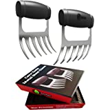Cave Tools Meat Claws - Stainless Steel Pulled Pork SHREDDERS - BBQ Forks for Shredding Handling & Carving Food from Grill Sm