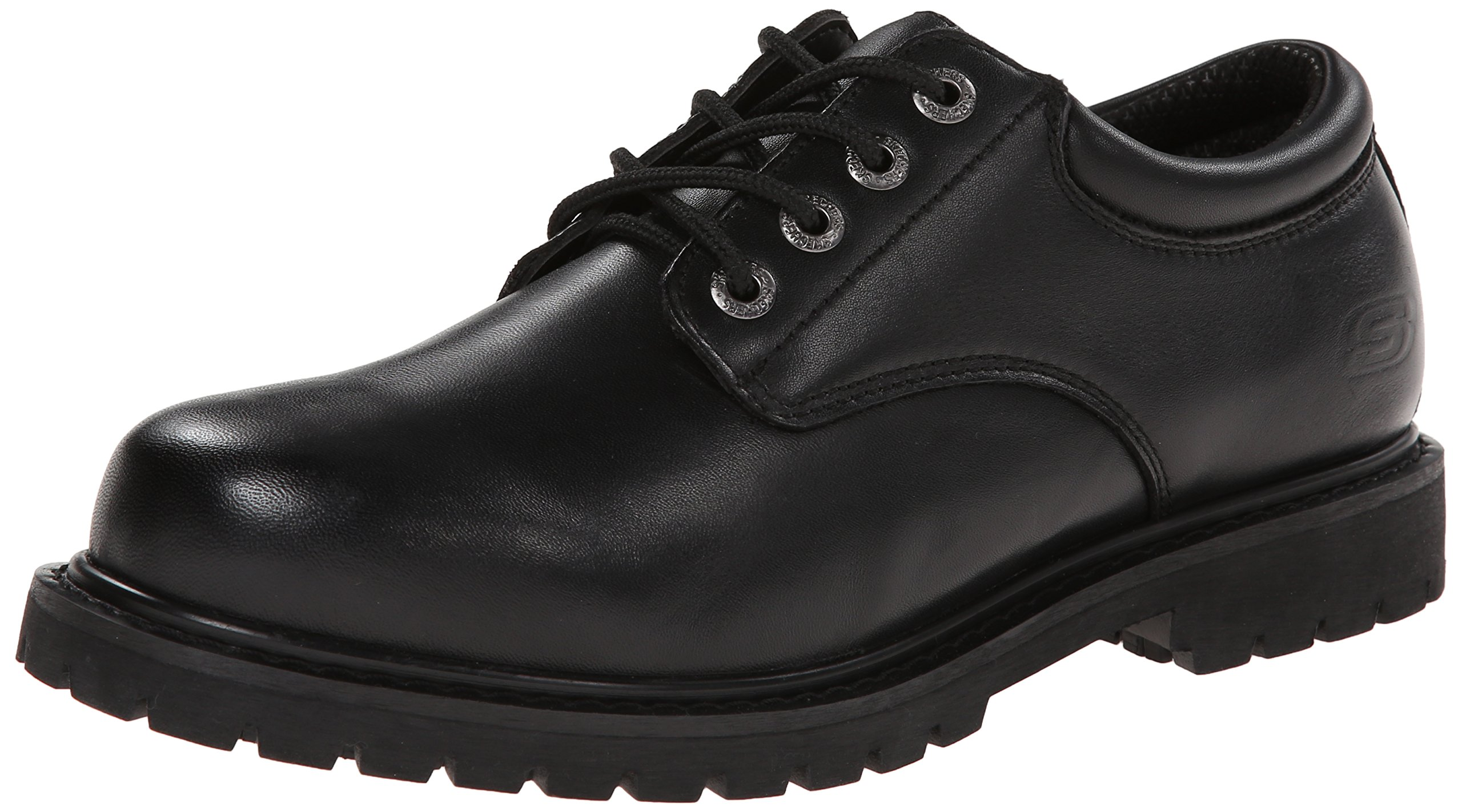 Skechers Men's, Cottonwood Elks Lace up Work Shoe Black 15 M by Skechers