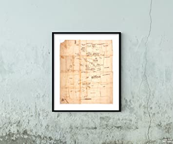 Amazon.com: 1762-1783 Map Franklin of The Towns of Western ... on