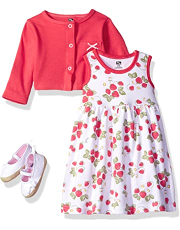 bc440e09d Hudson Baby Girl Dress, Cardigan and Shoes