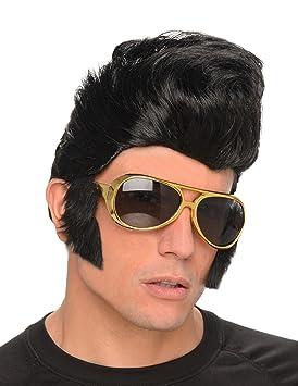 Peluca rockero hombre con gafas