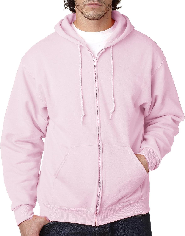 Apparel Jerzees 993M Unisex NuBlend Full-Zip Hooded Sweatshirt Pink 3X-Large