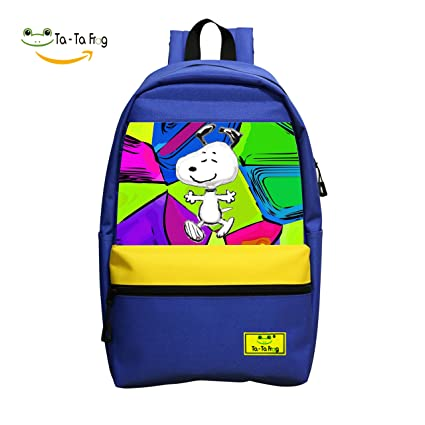 azaleasa escuela mochila para niñas niños para escuela media peanuts-snoopy-hug Bookbag al