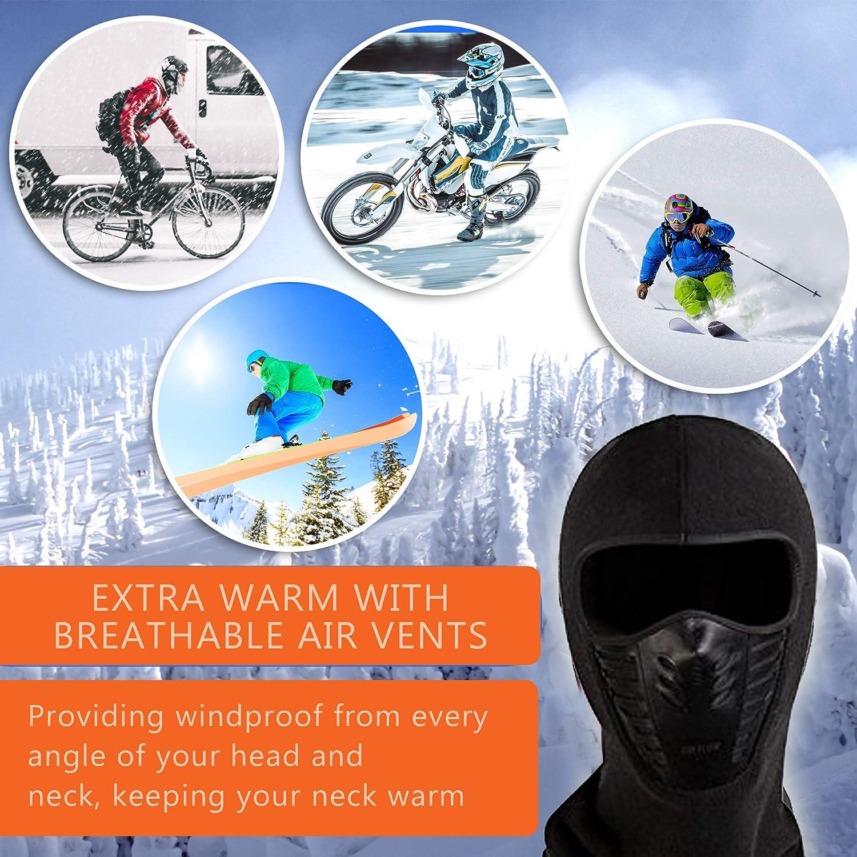 3 Piece ETCBUYS Unisex Winter Fleece Face /& Windproof Ski Mask