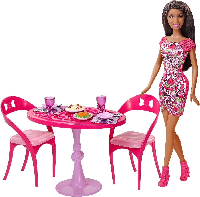 Barbie Doll & Dining Room Set, Brunette