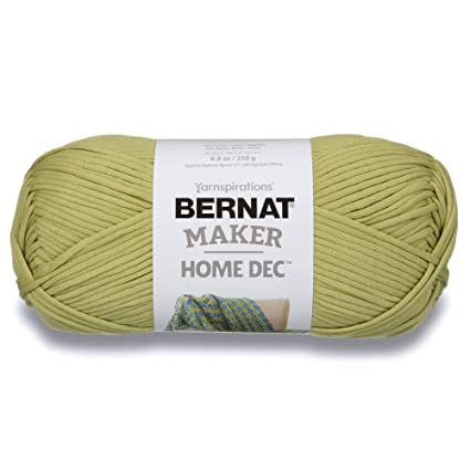 Bernat Maker Home Dec Yarn, 8 8oz, Guage 5 Bulky Chunky, Green Pea