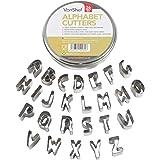 VonShef 26-teilig Ausstechformen Ausstecher Set Buchstaben Zahlen & Alphabet Tortendeko Marzipan Fondant