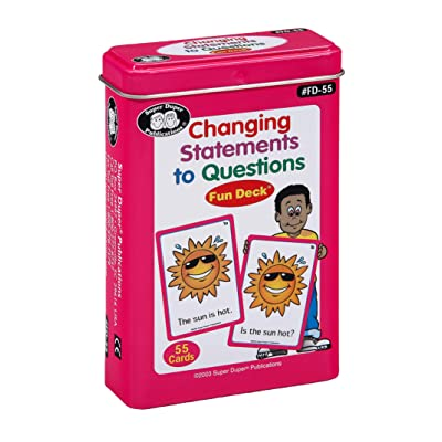 Super Duper Publications Changing Statements to Questions Fun Deck Flash Cards Educational Learning Resource for Children: Toys & Games