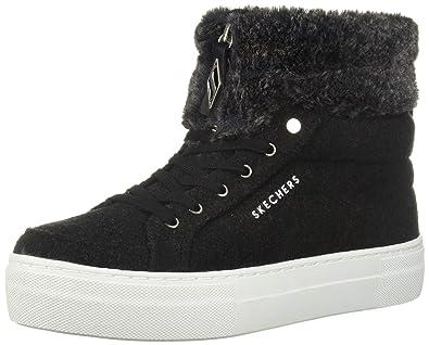1290646a12ba Skechers Women s Alba - Fuzzy Toppers Black Boot 6.5 Women US