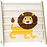 3 Sprouts Book Rack – Kids Storage Shelf Organizer Baby Room Bookcase Furniture, Lion/Yellow