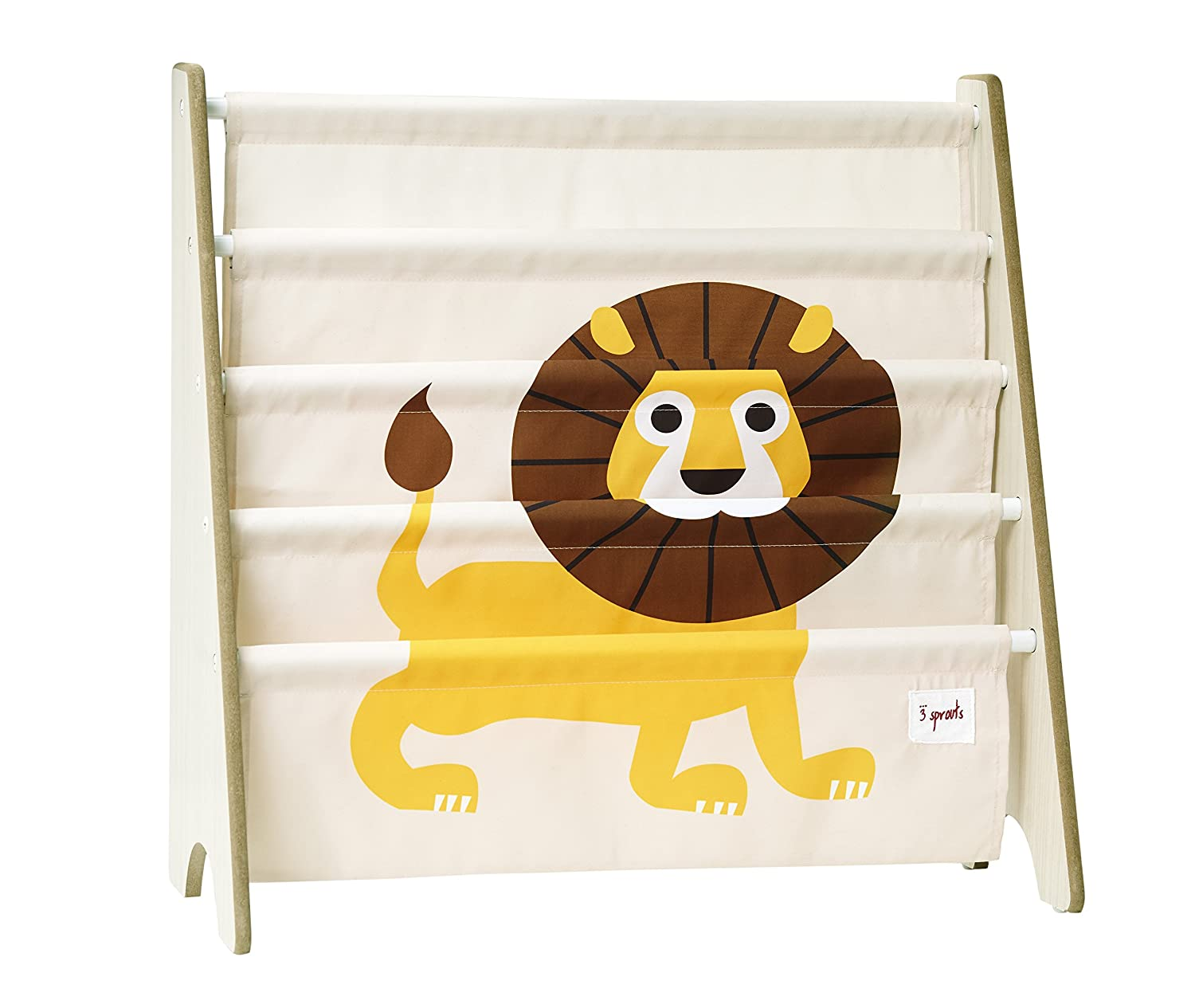 3 Sprouts Book Rack, Lion/Yellow URKLIO