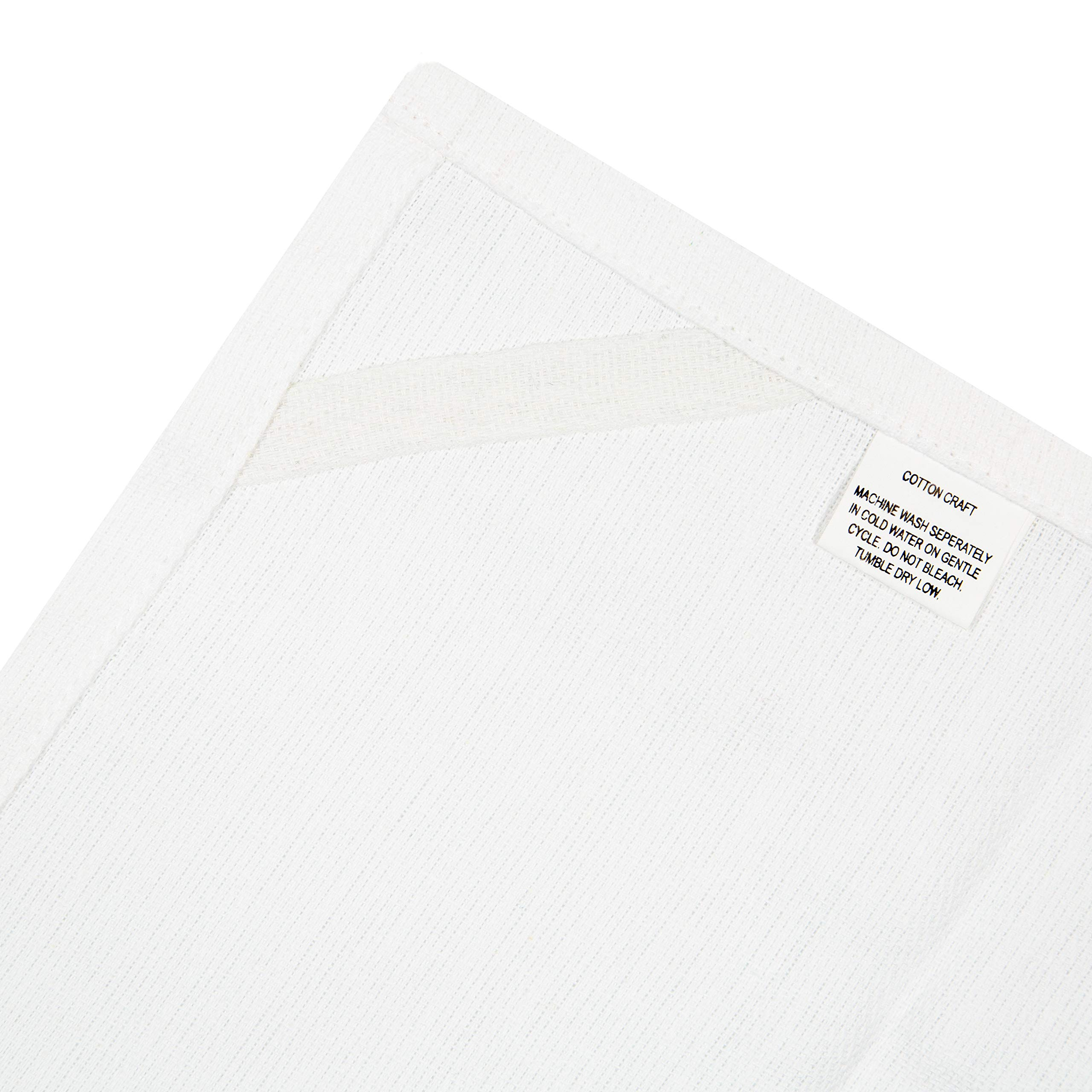 Cotton Craft - Scandia Stripe Charcoal & White 12 Pack Superior Professional Grade Kitchen Dish Tea Towels - May Also be Used as Napkins - 16x28 30 Ounces Pure 100% Cotton, Low Lint, Sturdy Weave by Cotton Craft (Image #3)