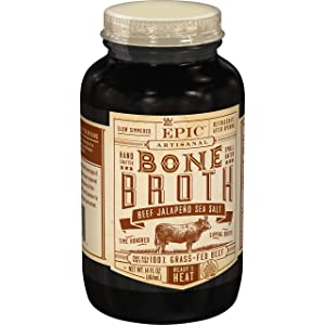 EPIC Beef Jalapeno Sea Salt Bone Broth, Keto Friendly, Paleo Friendly, 14 fl oz