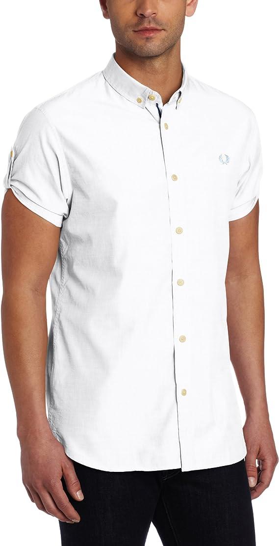Fred Perry - Camisa Casual - para Hombre Blanco Small: Amazon.es ...