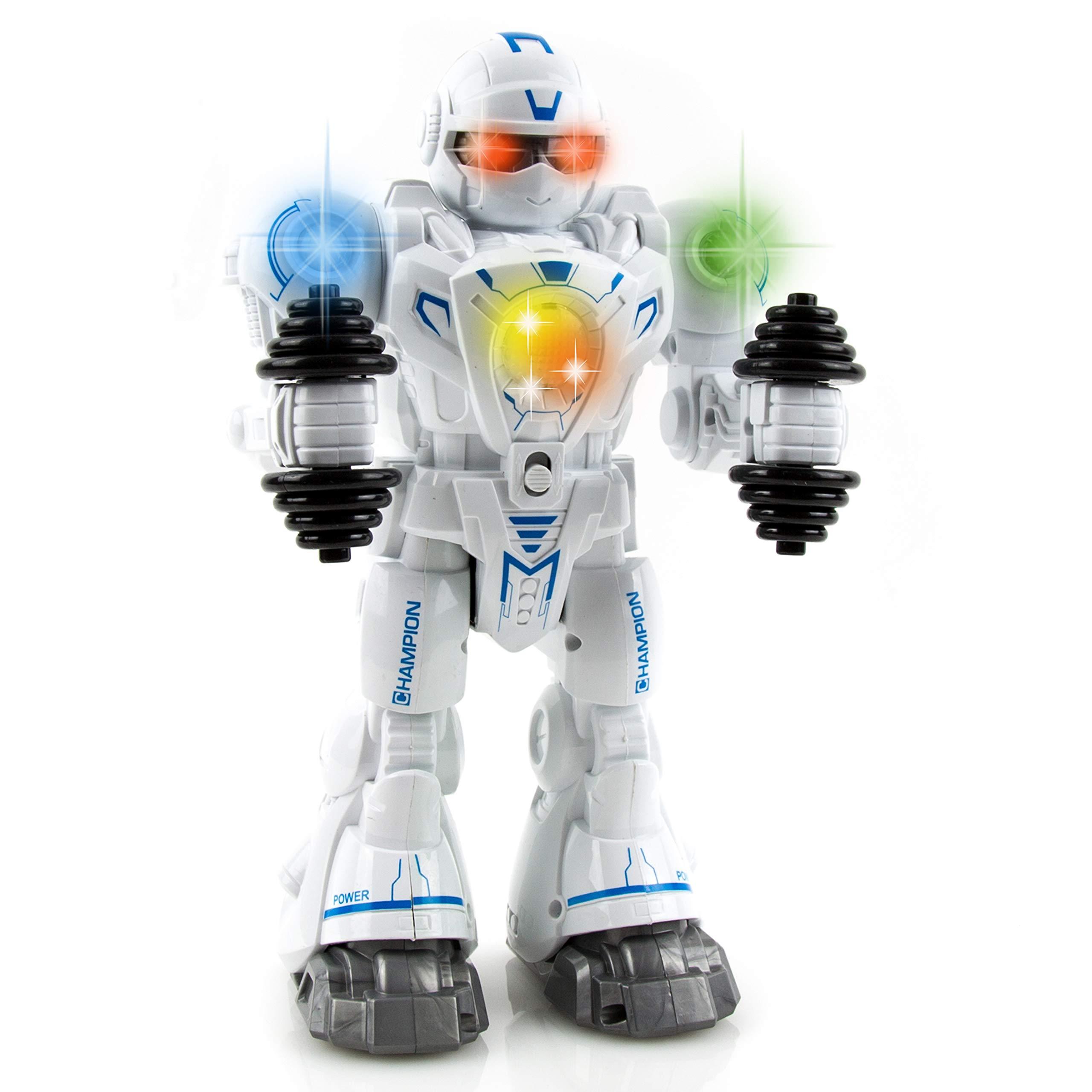 Toysery Walking Dancing Robot Toy Kids - Interactive Walking, Dancing Smart Robot Kit Boys & Girls (Battery Operated)