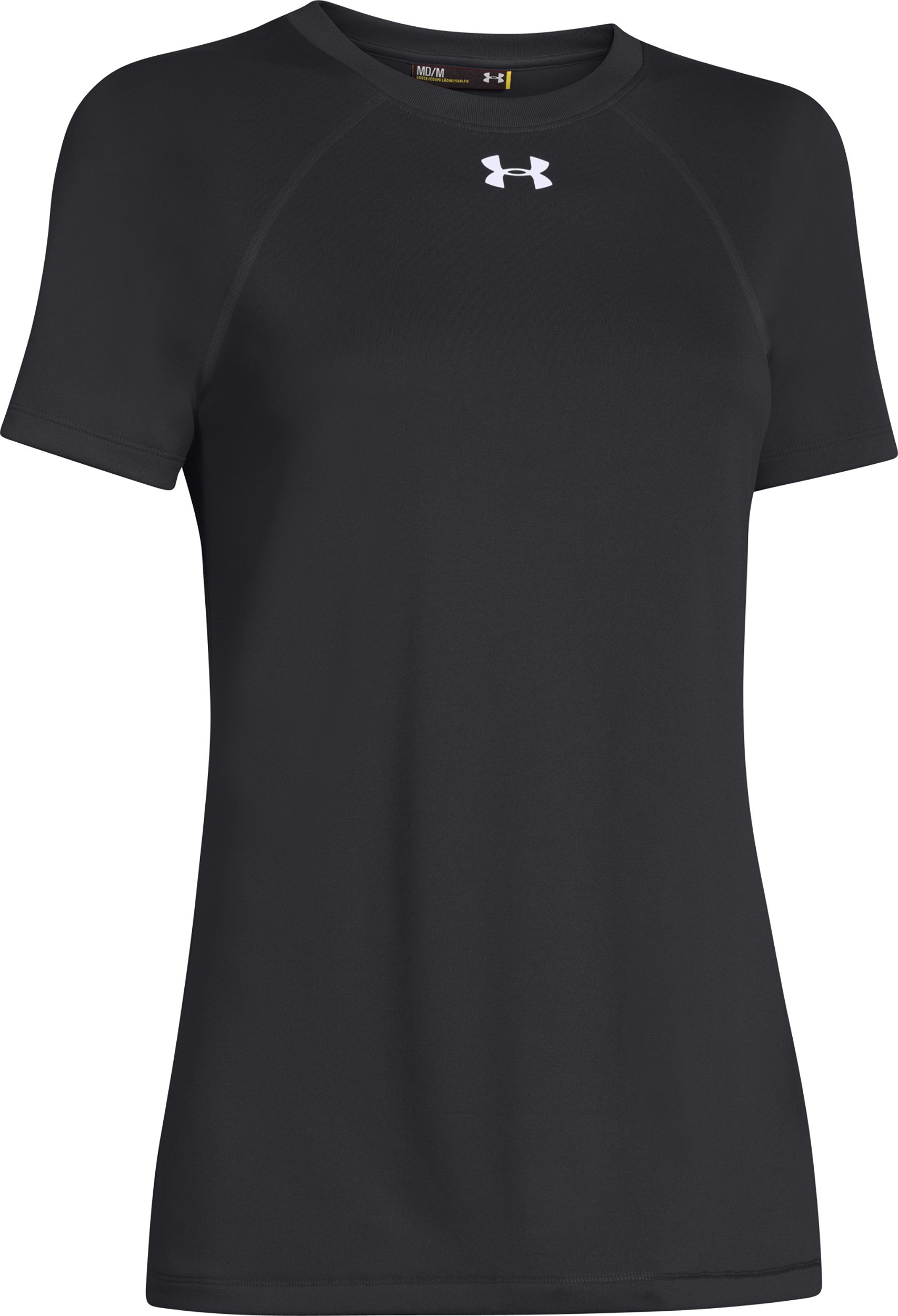 Under Armour Women's UA Locker T-Shirt, Black/White, Medium
