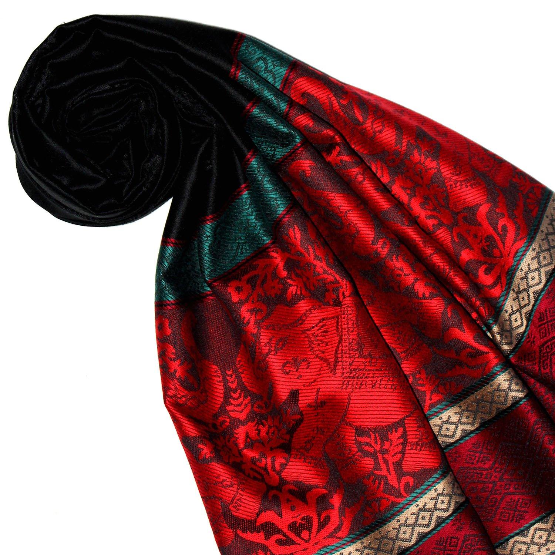 Lorenzo Cana Designer Pashmina hochwertiger Damen Markenschal jacquard gewebt mit Elefanten Muster Modal Schaltuch 70 x 190 cm Tuch Stola Schal 93253