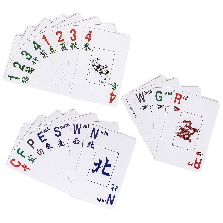 Playing Cards Mahjong, Mah Jong, Mahjongg, Mah-Jongg, Majiang Yellow Mountain Imports American Mah Jongg Indigo