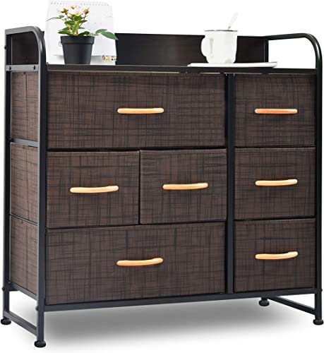 charaHOME Drawer Dresser Brown Dresser Organizer