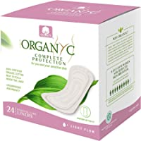 ORGANYC Hypoallergenic 100% Organic Cotton Panty Liners, 24-count Box
