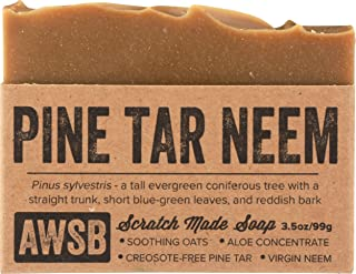 product image for Pine Tar Neem Oil All Natural, Vegan, Organic Bar Soap for Skin Problems, Handmade by A Wild Soap Bar