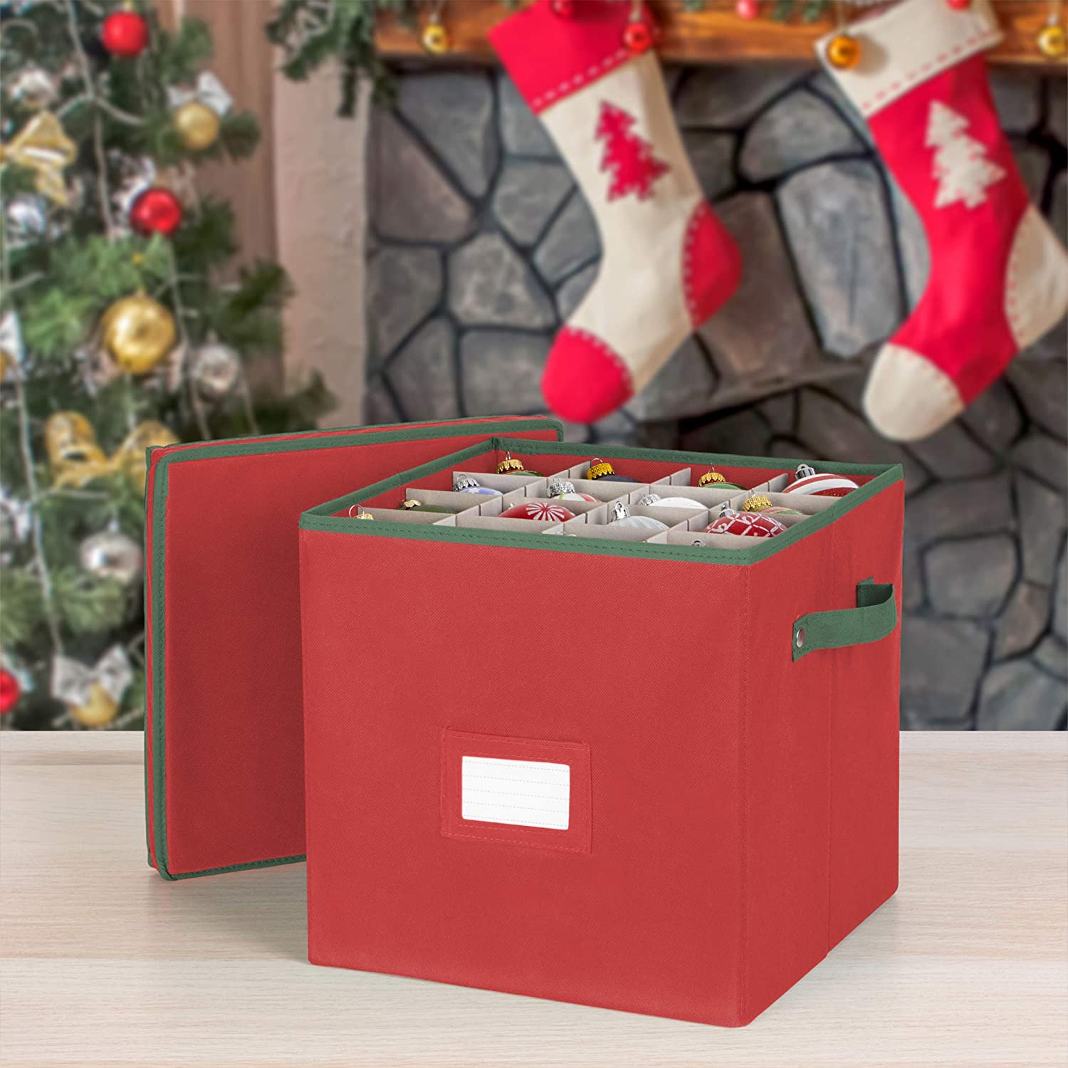 Amazon Com Holiday Ornaments Storage Cube With 64 Individual