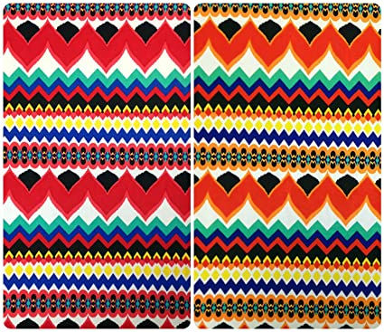 4bd776e292d Image Unavailable. Image not available for. Color: Zig Zag Tribal Repeat  Print on Stretch Lightweight Knit Jersey Polyester Spandex Fabric ...