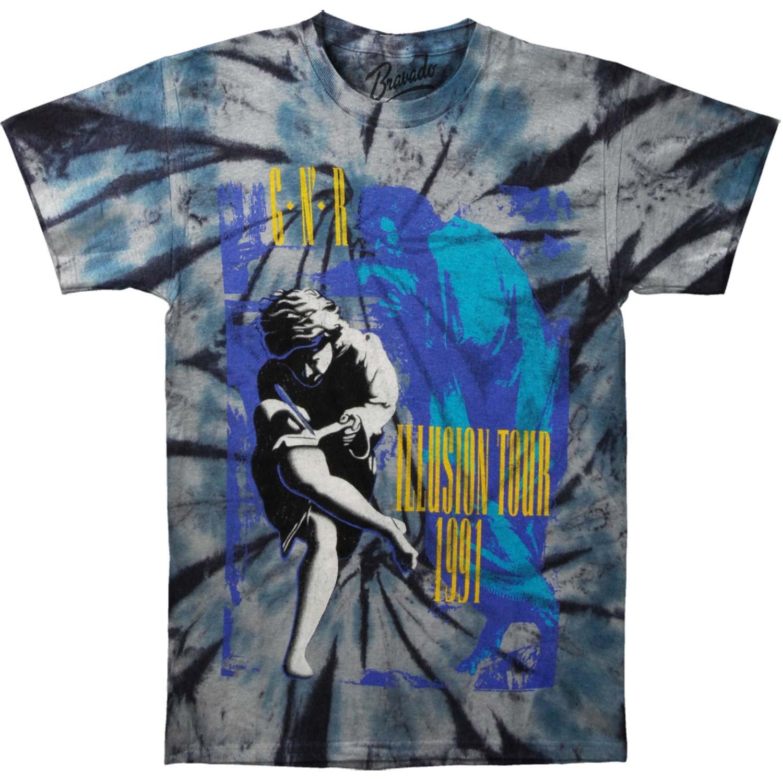 4574ee0c2f640 Amazon.com: Guns N Roses Men's Illusions Tour Tie-Dye Tee Tie Dye T ...