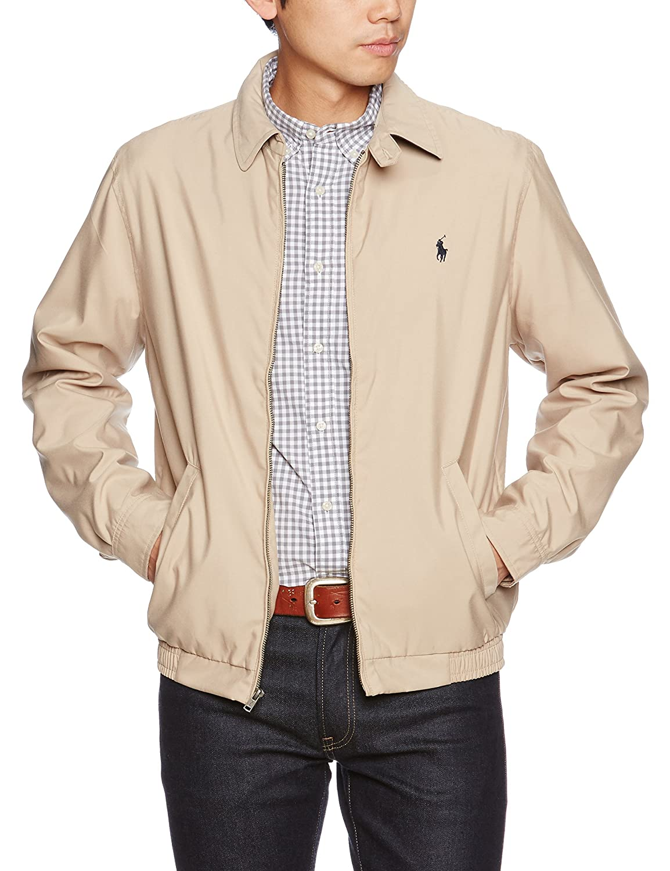 Polo Ralph Lauren Mens Bi-Swing Windbreaker Jacket (Khaki, Large)