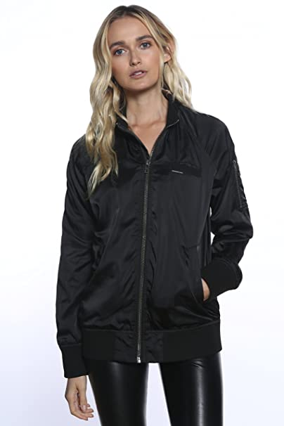 5f73b9afb Members Only Women's Iconic Boyfriend Jacket with Satin Finish