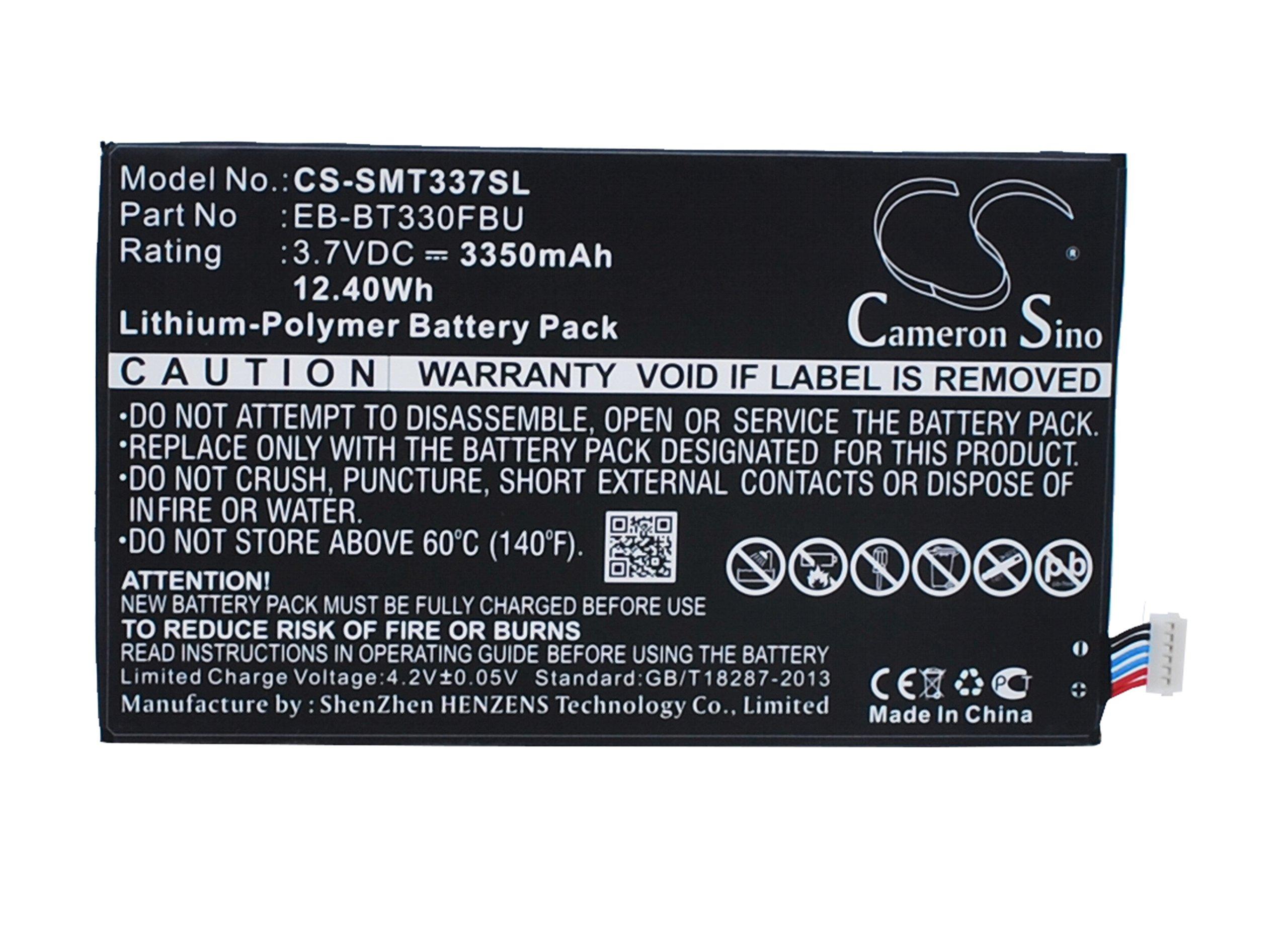 3350mAh X-Longer Tablet Battery for Samsung Galaxy Tab 4 8.0, Galaxy Tab4 8.0'', SM-T330NU (EB-BT330FBU)