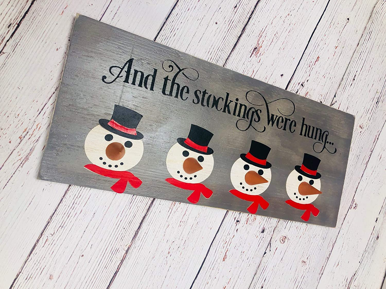 stocking holders and the stockings were hung snowman sign reindeer sign rudolph sign christmas mantel decor mantel alternative personalized stocking holders stocking hangers wood