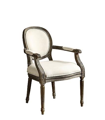 Amazon Com Furniture Of America Felicia Traditional Armchair Beige