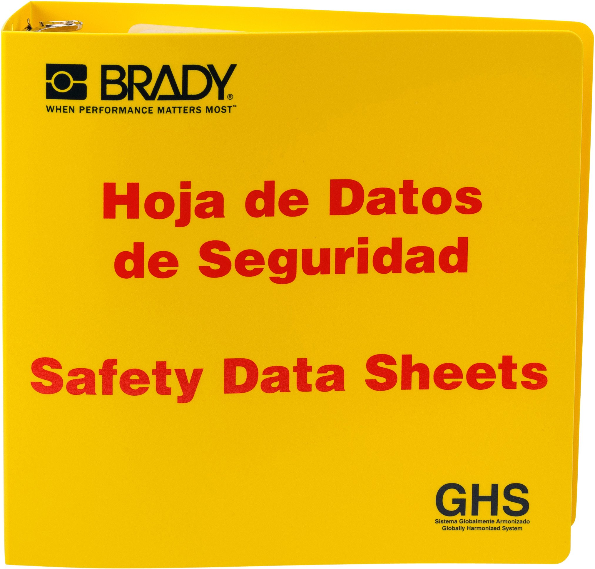 Brady 121186 GHS - 3'' Safety Data Sheet Binder - Spanish